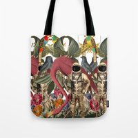 planet Tote Bags featuring PLANET by MANDIATO ART & T-SHIRTS