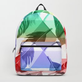Triangles Feathers Backpack