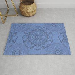 Mandala-Yoga-Blue Rug
