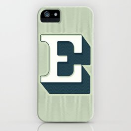 BOLD 'E' DROPCAP iPhone Case