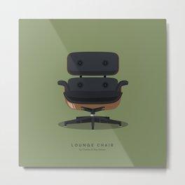 Lounge Chair - Charles & Ray Eames Metal Print