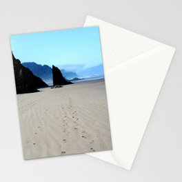 Footpirnts In The Sand Stationery Cards