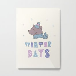 Winter Days Metal Print