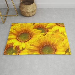 Yellow Mellow Sunflower Bouquet #decor #society6 #buyart Rug