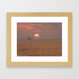 Parting is such sweet sorrow Framed Art Print