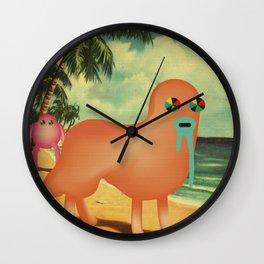 BeacH_PostCArD Wall Clock