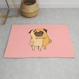 Pug Hugs Rug