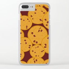 Chocolate chip cookie Clear iPhone Case