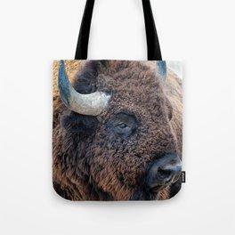 OLena Art Bison the Mighty Beast - Bison das mächtige Tier North American Wildlife Tote Bag