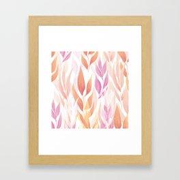 Flowers repeat Framed Art Print