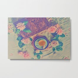 Roses and Tea Metal Print