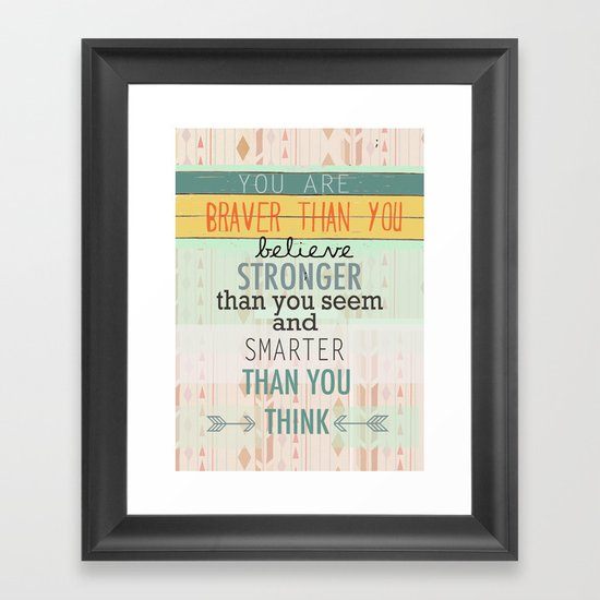 """""""Always Remember"""" Framed Art Print"""