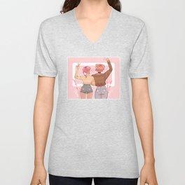 Pastel Sweet Hearts Unisex V-Neck