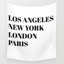 cities Wall Tapestry