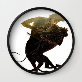Hercules and The Nemean Lion Wall Clock