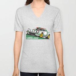 Lancia Stratos Alitalia livery Unisex V-Neck