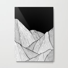 As The Mountains Rise Up Metal Print