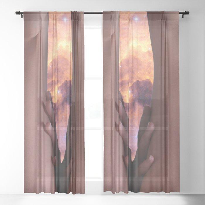 0025s-KCS The Gate of Heaven Creation Lies Between Her Thighs Sheer Curtain