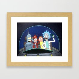 Space Drunks Framed Art Print