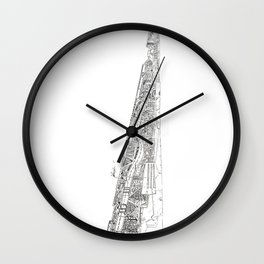 The tower of Disaster Wall Clock
