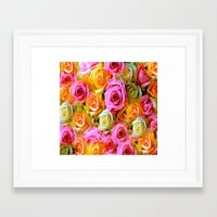 roses Framed Art Prints featuring Roses  by Saundra Myles