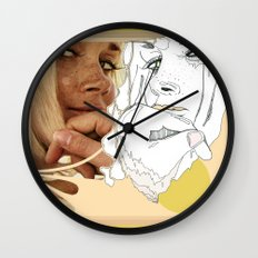 vintage peach Wall Clock