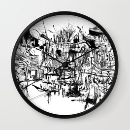 Foggy Beijing Wall Clock