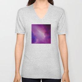 Where Celestial Galaxies Collide Unisex V-Neck