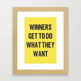 WINNERS Framed Art Print