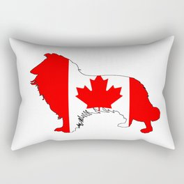 Canada Border Collie Rectangular Pillow