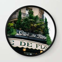 Paris Cafe IV Wall Clock