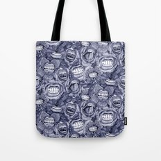 BITE ME roses and orchids INDIGO Tote Bag