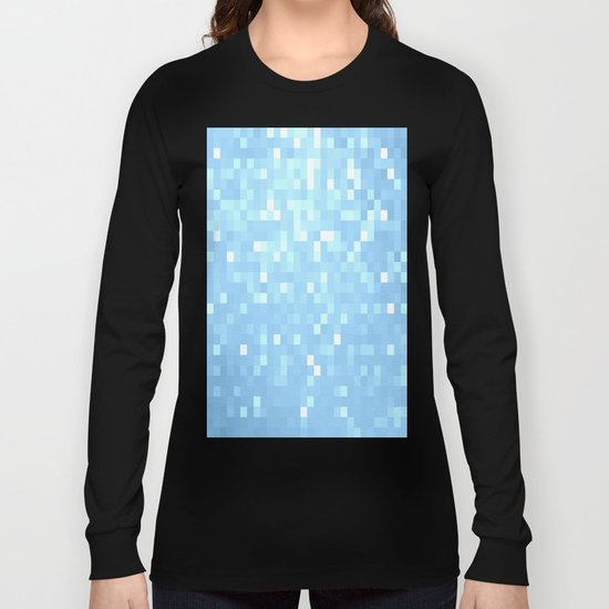 Blue Pixels Long Sleeve T-shirt