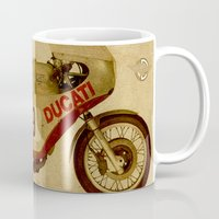 ducati Mugs featuring Ducati Number 9 by Larsson Stevensem
