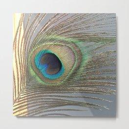 Peacock Feather No.1 | Feathers | Nadia Bonello | Ottawa | Canada Metal Print