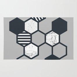 Marble Hex (Grey) Rug