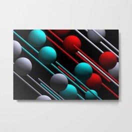 balls and 3 colors Metal Print