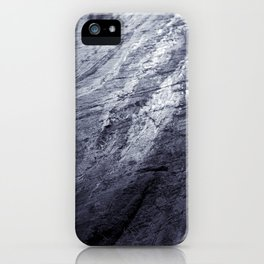 Ice age, silver iPhone Case