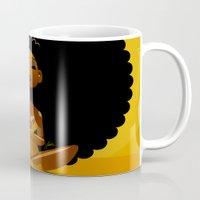 spiritual Mugs featuring Spiritual AfroGirl by Pweety Sexxay