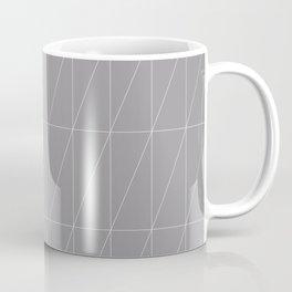 Grey Triangles by Friztin Coffee Mug