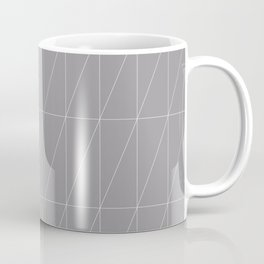 Grey Triangles by Friztin Coffee Mug
