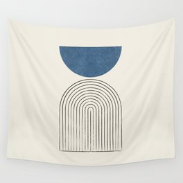 Arch Balance Blue Wall Tapestry