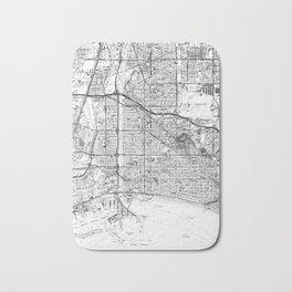 Vintage Map of Long Beach California (1964) BW Bath Mat