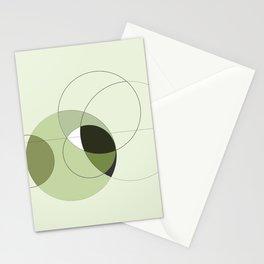 Elegant Circular Geometry Stationery Cards
