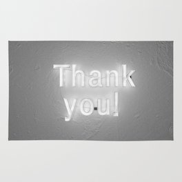 Thank You (Black and White) Rug