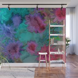 Flowers abstract #2 Wall Mural
