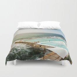 Bondi Icebergs Club   Bondi Beach Sydney Australia Ocean Coastal Travel Photography Duvet Cover