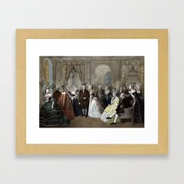 Franklin's Reception At The Court Of France Framed Art Print
