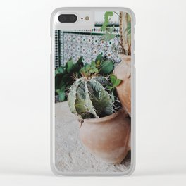 Cactii Clear iPhone Case