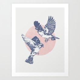 Sparrows II Art Print